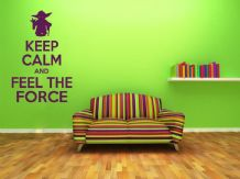Keep Calm and Feel The Force Wall Art Quote, Wall Sticker, Modern Decal Transfer